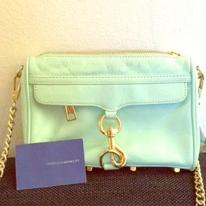 Real Rebecca Minkoff Mini MAC crossbody clutch